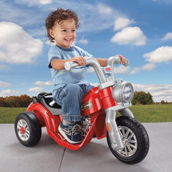 Fisher-Price Inc - Fisher-Price Power Wheels Lil Harley Motorcycle Battery Powered Riding Toy Multi - Shop for Tricycles and Riding Toys from Hayneedle.com! Young Harley fans are going to love the Fisher-Price Power Wheels Lil Harley Battery Powered Riding Toy. This toddler-friendly riding toy features a push button on the handle bar for simple stop-and-go control. The wide Harley Davidson inspired solo saddle seat is comfortable and stylish.