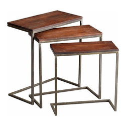 Retro Nesting Tables Set of 3 - *Jules Nesting Tables