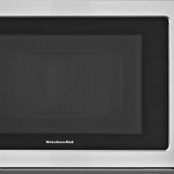 """KitchenAid - KCMS2255BSS 24"""" 2.2 cu. ft. Capacity Countertop Microwave Oven with 1200 Cooking - 22 cu ft and 1200 Watts of cooking power give you the performance and capacity that complements your wall oven or range You39ll get the convenience of ten quick-touch cooking cycles that include six sensor cycles Extra-large capacity allows this micr..."""
