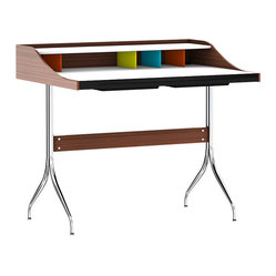 Herman Miller - Herman Miller Nelson Swag Leg Desk - How about working in this space with this whimsical desk? Graceful and minimalistic, this classic design is wrapped up in function and beauty.