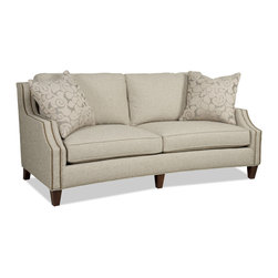 Austin 7001 Series Sofa - With nailhead trim, this roomy sofa in a pale vanilla shade is another one of my favorites.