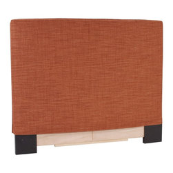 Howard Elliott - Coco  Twin Headboard Slipcover - Refresh the look of your slipcovered headboard simply by updating the cover! Change with the seasons, or on a whim. This piece features a soft burlap burnt orange cover.