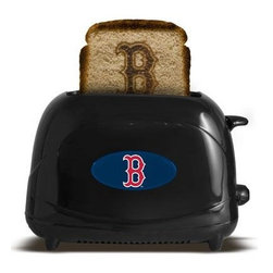 """Pangea - Boston Red Sox ProToast Elite Black - Boston Red Sox ProToast Elite. Fire up your team spirit at breakfast with this Pangea Brands ProToast Elite 2-slice toaster that brands your favorite logo onto your bread to salute your favorite team. Seven heat settings let you control the level of browning. 600-700watts. 36"""" Cord length. Black."""