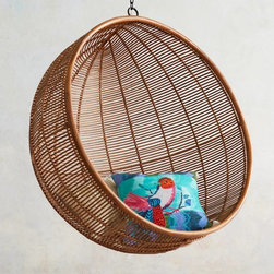 Rattan Hanging Chair - Horizontal, circular or upside down, I could spend my summer in whatever position I want in this awesome hanging chair.