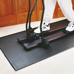SuperMat 11GS Tread Mat - Put a SuperMat 11GS Tread Mat underneath your treadmill or other large equipment to extend the life of both your machines and your floorsHeavy-duty PVC mat prevents scratches dents and slippageReduces vibrations to your machinesDampens running noise to help insulate your workout from family or neighborsPerfect for standard treadmills cross-country trainers and aerobics routinesEasily wipes clean with a damp towelDimensions: 78L x 36W inchesManufacturer's warranty included - see Product Guarantee area for complete detailsAbout SuperMatsBased in Minnesota SuperMats is dedicated to creating commercial-grade flooring solutions for fitness anti-fatigue and agricultural applications. They use high-quality rubber and PVC to create products both large and small that easy to maintain simple to use and significantly benefit the user. You'd be surprised where you'll find a SuperMat handy!