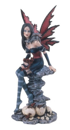 GSC - Fairy Collection Black Pixie Desk Decoration Figurine Collectible - This gorgeous Fairy Collection Black Pixie Desk Decoration Figurine Collectible has the finest details and highest quality you will find anywhere! Fairy Collection Black Pixie Desk Decoration Figurine Collectible is truly remarkable.