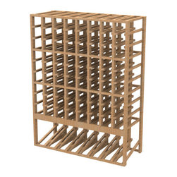 EcoWineracks 8 Column Upper Display Rack, Natural Color, Clear Acrylic Finish - EcoWineracks are the worlds only traditional style wine racks made from non-forested and sustainable bamboo. Bamboo is superior to wood in strength and durability, is non-warping and has consistent grain.