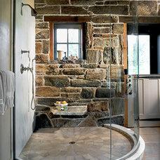 Rustic Bathroom by Sargent Design Company