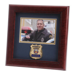 Police Department Landscape Picture Frame - 10-Inch by 10-Inch First Responder Landscape Picture Frame