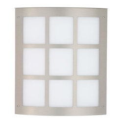 Besa Lighting - Moto Brushed Aluminum ADA One-Light Incandescent Wall Sconce with White Acrylic - - White Acrylic is a clean, glossy, semi-translucent white that suits well for any modern or contemporary decors. When lit it gives off a soft glow that exudes a warm mood. The acrylic offers greater resistance to the abuse of the elements perfect for outdoor applications.  - Bulbs not Included  - Title XXIV compliant  - Primary Metal Composition: Stainless Steel  - Shade Material: Acrylic  - NOTICE: Due to the artistic nature of art glass, each piece is uniquely beautiful and may all differ slightly if ordering in multiples. Some glass decors may have a different appearance when illuminated. Many of our glasses are handmade and will have variances in their decors. Color, patterning, air bubbles and vibrancy of the d�cor may also appear differently when the fixture is lit and unlit. Besa Lighting - 106-WA-BA