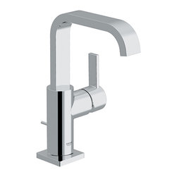 Grohe - Grohe 32 128 000 Allure WaterCare Single Handle Centerset Lavatory Faucet - Allure WaterCare Single Handle Centerset Lavatory Faucet belongs to Allure Collection by Grohe Atrio with its restrained design and individual look has a timeless quality and will add a refined edge to any style of kitchen. Grohe's best-selling pull-out faucet has been given a new, updated look that combines the innovative design of today's modern kitchens with the functionality and durability of a professional tool. The new Ladylux3 features a dynamic and flowing silhouette with a more streamlined body than its predecessors.  Faucet (1)