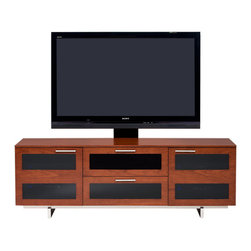 BDI - Avion II TV Stand, Triple Wide, Natural Cherry - The Avion II TV Stand, Triple Wide has features that provide you with a better media experience. Hidden wheels, adjustable shelves, cable management. Choose from 3 color options.