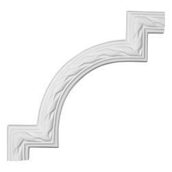 "Ekena Millwork - 11 3/8""W x 11 3/4""H Jackson French Ribbon Panel Moulding Corner - Our beautiful panel moulding and corners add a decorative, historic, feel to walls, ceilings, and furniture pieces.  They are made from a high density urethane which gives each piece the unique details that mimic that of traditional plaster and wood designs, but at a fraction of the weight.  This means a simple and easy installation for you.  The best part is you can make your own shapes and sizes by simply cutting the moulding piece down to size, and then butting them up to the decorative corners.  These are also commonly used for an inexpensive wainscot look."