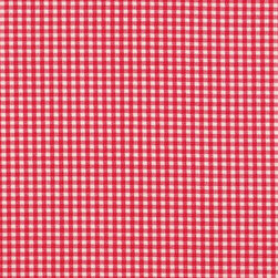 "Close to Custom Linens - 16"" Ruffled Pillow Gingham Check Cherry Red - A charming traditional gingham check in cherry red on a cream background. The square pillow is 16 inches X 16 inches and has a 2 inch ruffle that adds the finishing touch."