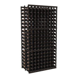 Wine Racks America - 9 Column Double Deep Cellar in Redwood, Black - This beautiful and highly efficient 9 column wine rack kit only takes about 3 feet of wall space but holds 36 bottles per column. That is a total of 324 bottles (or 27 cases) in one rack! Double deep storage is ideal for restaurants, bars and private collectors as we stand behind our products and their quality. Those are guarantees.