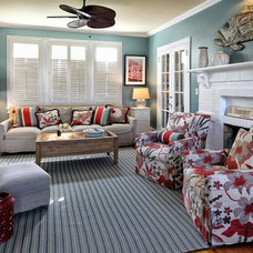 Eclectic Living Room by Knight Architects LLC