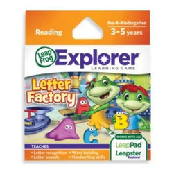 Leap Frog - LeapFrog Explorer Letter Factory Learning Game - Kids will love taking an ABC adventure trip to the Letter Factory with their favorite frog characters, Leap, Lily and Tad. This delightful game teaches letter recognition, word building and handwriting skills.