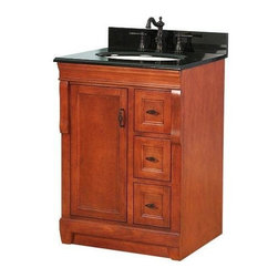 """Foremost - Foremost Naples 24 W x 18 D Vanity Cabinet only, Warm Cinnamon (NACA2418D) - Foremost NACA2418D Naples 24"""" W x 18"""" D Vanity Cabinet only, Warm Cinnamon"""
