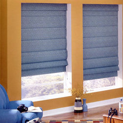 Bali - Bali Casual Classics Roman Shades: Plume - The Plume collection features textured, elegant leaf and stem patterns.  Casual Classics Roman shades offer the softness of a drapery with the practicality of a shade.