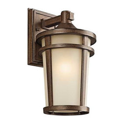 Kichler Lighting - Kichler Outdoor Wall Light in Brown Stone Finish - 49072BSTFL - Country / cottage brown stone 1-light outdoor wall light. Takes (1) 18-watt compact fluorescent spiral bulb(s). Bulb(s) included. CSA listed. Wet location rated.