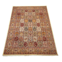 "ALRUG - Handmade Multi-colored Persian Bakhtiar Rug 5' 11"" x 9' 1"" (ft) - This Pakistani Bakhtiar design rug is hand-knotted with Wool on Cotton."
