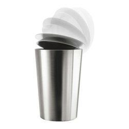 Eva Solo - Eva Solo | Waste Bin - Eva Solo's stainless steel Waste Bin features a clever lid that opens from any side. Sloping sides make it easy to lift the liner out and the bowl shaped lid is convenient for gathering waste. This small size waste bin is suitable for nearly any room in the house.
