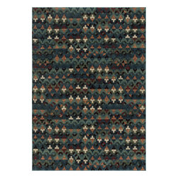 """Loloi Rugs - Loloi Rugs Vista Collection - Blue / Multi, 2'-3"""" x 3'-9"""" - Power loomed in Egypt, the Vista Collection offers striking pattern inspired by ethnic textiles. All nine designs share a color palette of desert hues like rust, taupe, and more on a 100% polypropylene fiber for strong durability. Available in six sizes including a scatter and a runner."""