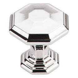 "Top Knobs - Chalet Knob 1 1/4"" - Polished Nickel - Width - 1 1/4"", Projection - 1 1/16"", Base Diameter - 3/4"""