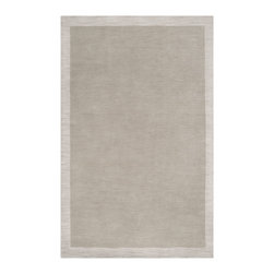 "Surya - Surya Madison Square MDS-1001 (Cobble Stone, Oatmeal) 5' x 7'6"" Rug - Cool neutrals accentuate the rugs in the Madison Square collection. The Clean, classic lines and borders give these rugs a classy, elegant feel. Loomed with 100% wool, the softness pairs seamlessly with the classic designs making them the perfect rug for any decor in any home."