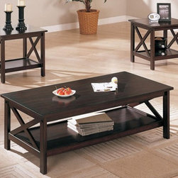 Poundex Furniture - 3-Pcs Table Set - F3069 - Set Includes Coffe Table And End Table