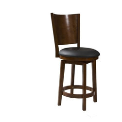 Powell - Powell 697-889 Big Tall Solid Back Wood Counter Stool - Big Tall Solid Back Wood Counter Stool by Powell