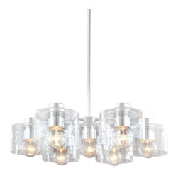 "Sonneman - Sonneman Transparence 7-Light Chandelier - The Transparence 7-Light Chandelier by Sonneman has been designed by Robert Sonneman. The Sonneman Apollo collection is a reference to the gleaming mercury glass orbs of the deco era inspired by god of light, this design embodies luminous, reflective, shimmering transparence-simple, yet mysterious. Its mercury-coated glass globe reflects its outside surroundings and radiates the luminance of its clear filament lamp from within. Apolllo with its sperichal, celestial form, adds simple elegance to your modern home or architect-inspired space   Product description:  The Transparence 7-Light Chandelier by Sonneman has been designed by Robert Sonneman. The Sonneman Apollo collection is a reference to the gleaming mercury glass orbs of the deco era inspired by god of light, this design embodies luminous, reflective, shimmering transparence-simple, yet mysterious. Its mercury-coated glass globe reflects its outside surroundings and radiates the luminance of its clear filament lamp from within. Apolllo with its sperichal, celestial form, adds simple elegance to your modern home or architect-inspired space   Details:      Manufacturer:     Sonneman         Designer:    Robert Sonneman        Made in:    USA        Dimensions:     Shade:Diameter:7"" (17.78 cm) X Height:4.5"" (11.43 cm) X Canopy Diameter:5"" (12.7 cm)                                                    Overall:Height:6"" (15.24 cm) X Diameter:27.5"" (69.86 cm)      Light bulb:     7 X A19 Half Chrome Medium Base Max 60W Incandescent (not included)         Material:     Metal, Glass"