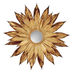 Paragon - Paragon Golden Flower Petals  by Mirrors  - 48 X 48 - Title Paragon Golden Flower Petals  by Mirrors  - 48 X 48