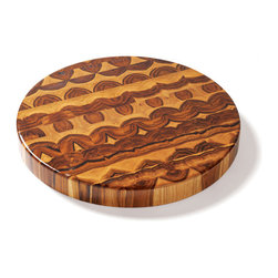 Proteak - Proteak 18-Inch Round Teak Chopping Block - Reversible - This 18-inch-diameter chopping block is made of tropical teak wood, renowned for its resistance to moisture due to its high content of natural oil. 2 in. thick.