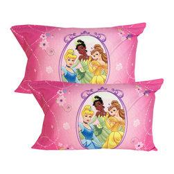 Store51 LLC - Disney Princess Pillowcases Royal Garden Pillow Covers - FEATURES: