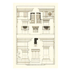 "Buyenlarge.com, Inc. - Doric, Tuscan Orders and Columns - Canvas Poster 20"" x 30"" - Architectural Drawings of Renaissance Architecture"