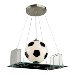 Elk Lighting - Elk Lighting 5134/1 1 Light Pendant in A Soccer Field Motif - 1 Light Pendant in A Soccer Field Motif belongs to Novelty Collection by Elk Lighting Fun For All Ages!  These Whimsical Lighting Fixtures Will Put A Smile On You Or Your Child's Face With A Myriad Of Shapes And Themes Meant To Stir The Imagination And Create A Lighthearted Environment.  Pendant (1)