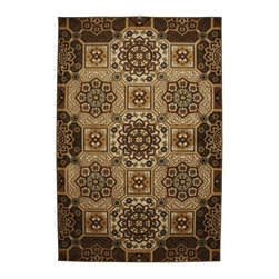 """Mohawk - Contemporary Safi Tiles Sandstorm 5'3""""x7'10"""" Rectangle Rust-Ochre Area Rug - The Safi Tiles Sandstorm area rug Collection offers an affordable assortment of Contemporary stylings. Safi Tiles Sandstorm features a blend of natural Rust-Ochre color. Machine Made of Polypropylene the Safi Tiles Sandstorm Collection is an intriguing compliment to any decor."""