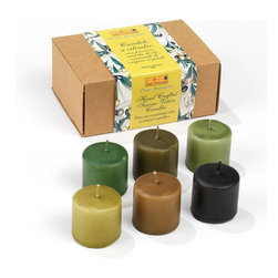 Prima Spremitura - Hand Crafted Aromatherapy Votive Candles - These cleanly burning, handmade candles of the utmost quality have been created with a mixture of plant waxes (30%) and highly refined paraffin was.  The most discerning techniques of aromatherapy have been used to create a unique blend of natural essential oils, releasing a warm and harmonious fragrance, which will add elegance and warmth to any environment.