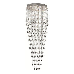 Elegant Lighting - Elegant Lighting 2032W6C Maxim 2 Light Wall Sconces in Chrome - 2022 Galaxy Collection Large Hanging Fixture L28in W20in H72in Lt:12 Chrome Finish (Swarovski Spectra Crystals)