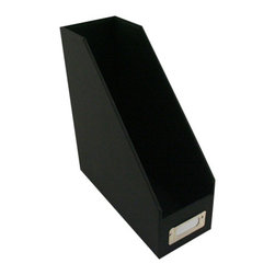 "Neatnix Inc - Magazine Holder, Black - A contemporary approach to organizing any work environment. Covered with sturdy denier twill our magazine holder also provides a durable sturdy finish. Complete your office with our other office pieces. Size: 4"" x 10"" x 11"""