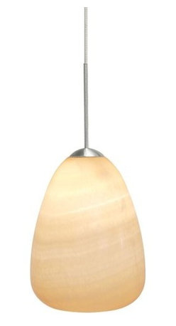 LBL Lighting - LBL Lighting Onyx Teardrop LED Monopoint 1 Light Track Pendant - LBL Lighting Onyx Teardrop LED Monopoint 1 Light Track PendantBreathe new life into your home or business with this beautiful pendant featuring an exquisite genuine onyx teardrop with an included 6 watt replaceable LED module that provides perfect energy-efficient down lighting.Each Monopoint lighting fixture includes a single-point canopy with built-in transformer right out of the box for a quick and easy installation.LBL Lighting Onyx Teardrop LED Monopoint Features: