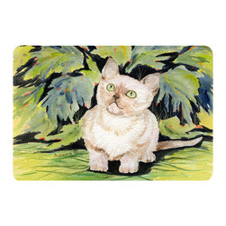 Caroline's Treasures - Cat - Burmese Kitchen or Bath Mat 24 x 36 - Kitchen or Bath Comfort Floor Mat This mat is 24 inch by 36 inch. Comfort Mat / Carpet / Rug that is Made and Printed in the USA. A foam cushion is attached to the bottom of the mat for comfort when standing. The mat has been permanently dyed for moderate traffic. Durable and fade resistant. The back of the mat is rubber backed to keep the mat from slipping on a smooth floor. Use pressure and water from garden hose or power washer to clean the mat. Vacuuming only with the hard wood floor setting, as to not pull up the knap of the felt. Avoid soap or cleaner that produces suds when cleaning. It will be difficult to get the suds out of the mat.