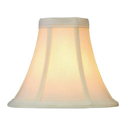 "Lite Source - Bell Candelabra Lamp Shade Faux Silk Cream 3"" - Lite Source presents the Bell Lamp Shade, featured in Cream Finish, creating a soft ambiance in the home"