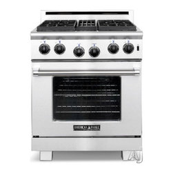 """American Range - Heritage Classic ARR-304L 30"""" Freestanding Liquid Propane Range With 4 Sealed Bu - The Innovection Convection Oven Technology utilizes dual convection motors and louvered side panels to enhance uniform heat distribution throughout the large oven cavity The strategic placement of the dual Innovection convection motors blended with t..."""