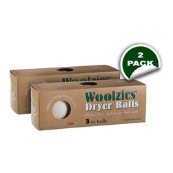 Soft By Nature - Woolzies Dryer Balls, Box of 3, 2 Pack - Go green and spend less time in the laundry and dryer room knowing that you will have the perfect set of laundry with Woolzies 100% Wool Dryer Balls, 6-pack set, or the 3-pack set. Woolzies Dryer Balls are expected to last for at least 1,000 laundry loads and are made from 100% hypoallergenic hand-spun wool to help save time, money, and stress on the environment by eliminating the need for harmful conventional fabric softeners, plastic dryer balls, and dryer sheets. Not only do the dryer balls reduce large load and small load drying times up to 25% and 40% respectively, but they also reduce electrical, gas, and appliance usage. Your wallet is not the only thing benefiting from the dryer balls as they also reduce clothing damage from unnecessary additional dryer time and exposure to fabric softeners, plastic dryer balls, and dryer sheet chemicals. Woolzies Dryer Balls speed up the drying process by bouncing around and between your clothing allowing for better hot air flow so all your clothes are thoroughly dried. Dry your clothes knowing that the Woolzies Dryer Balls are good for the earth, good for the family, good for the future, good for your dryer, and good for future generations.