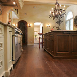 Alamo Residence - 8 Rustic Oak antiqued with custom color and wax finish