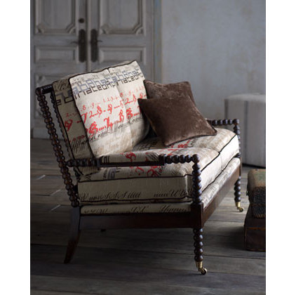 Traditional Indoor Chaise Lounge Chairs by Horchow