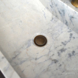 """WHITE MARBLE BATHROOM VESSEL SINK PEGASUS WHITE 23""""x15""""x4 + FAUCET HOLE - Rectangular Natural stone vessel sink PEGASUS WHITE -  23-2/3"""" x 15-2/3"""" x 4-3/4"""" - genuine interior decoration Guangxi White marble. The """"Exceptional"""" cut in the block without any comparison with plastic and other chemical resin market often unaffordable. You will definitely not let anyone feel indifferent with this 100% natural stone unique in the US and exclusively available on Living'ROC.net."""