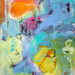 """Union"" Artwork - Union is a mixed media expressionistic painting with the foundational layer being that of watercolor paints. the majority of the over lays of color are acrylic. professional quality paints used with all my paintings. the support is arches 156lb. acid free heavy watercolor paper. ready to be framed. summer expressions...."